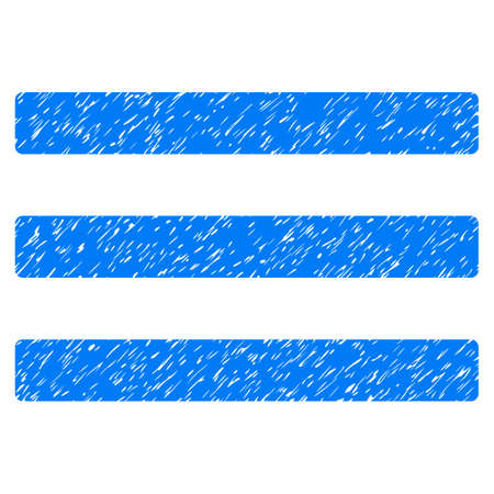 enumerate: Menu grainy textured icon for overlay watermark stamps. Flat symbol with dust texture. Dotted vector blue ink rubber seal stamp with grunge design on a white background. Illustration
