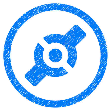 Rounded Artificial Joint rubber seal stamp watermark. Icon symbol inside circle with grunge design and dust texture. Unclean vector blue sign. Illustration