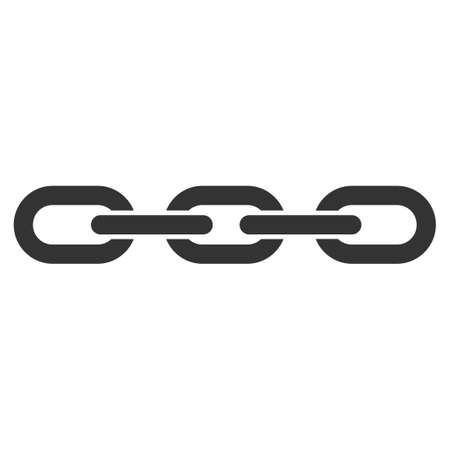 Chain vector icon. Flat gray symbol. Pictogram is isolated on a white background. Designed for web and software interfaces.