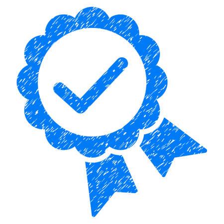 validez: Sello validez icono de textura granulosa de sellos de agua de superposición. símbolo plana con textura rayada. trama de puntos sello de junta de goma de tinta azul con el diseño del grunge sobre un fondo blanco.