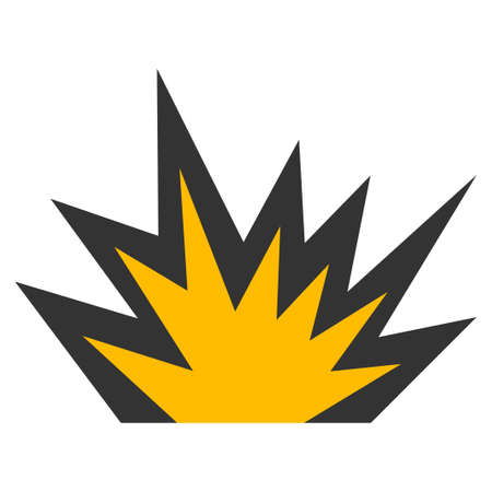 Boom Explosion vector icon. Style is flat graphic symbol.