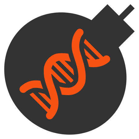 Genetic Weapon vector icon. Style is flat graphic symbol.