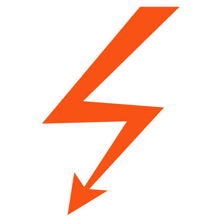 Lightning Strike vector icon. Style is flat graphic symbol. Illusztráció
