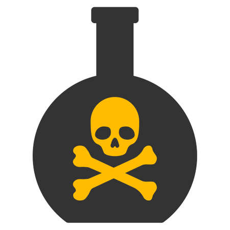 chemical hazard: Poison vector pictogram. Style is flat graphic symbol. Illustration