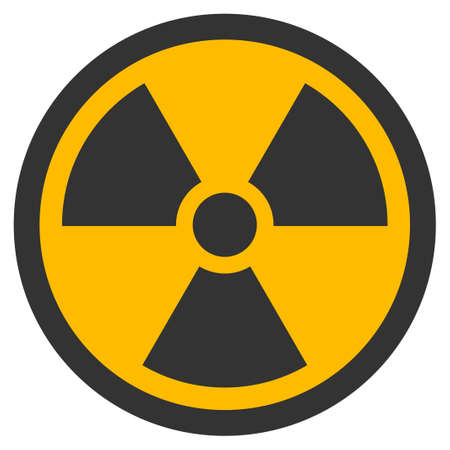 Radioactive vector pictograph. Style is flat graphic symbol. Illustration