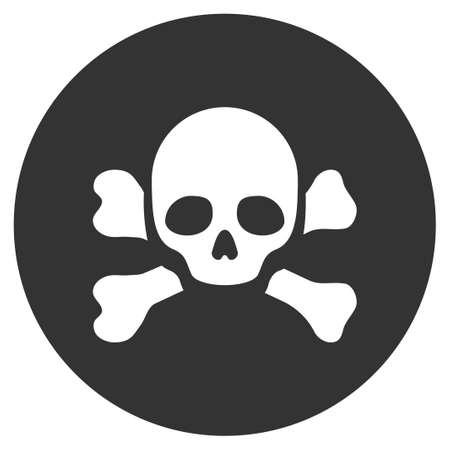 Skull Black Spot vector pictograph. Style is flat graphic symbol.