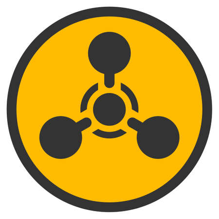 hazardous waste: Wmd Nerve Agent Chemical Warfare vector icon. Style is flat graphic symbol.