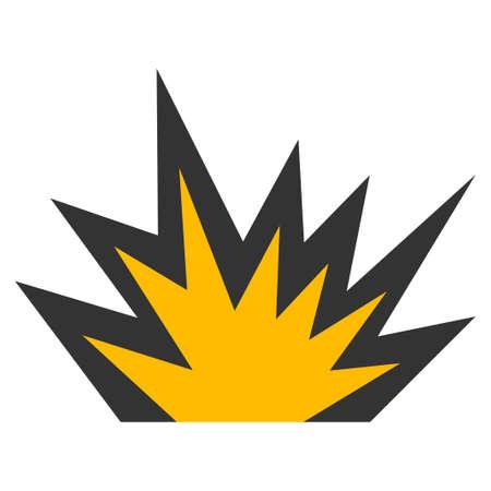 dinamita: Boom Explosion raster icon. Style is flat graphic symbol. Foto de archivo