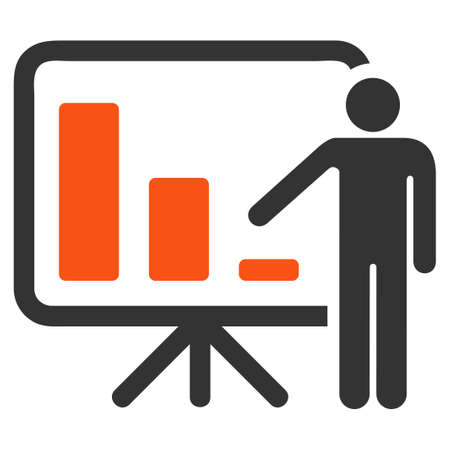 presentaion: Crisis Reporting Person raster icon. Style is flat graphic symbol.