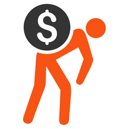 Money Thief raster icon. Style is flat graphic symbol. Stock Photo