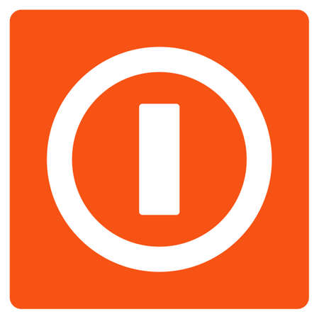 Turn Off raster pictogram. Style is flat graphic symbol. Stock Photo