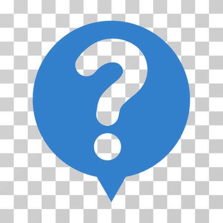 Status Balloon vector icon. Illustration style is flat iconic cobalt symbol on a transparent background. Illustration