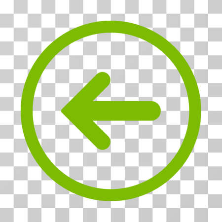 before: Arrow Left rounded icon. Vector illustration style is flat iconic symbol inside a circle, eco green color, transparent background. Designed for web and software interfaces. Illustration