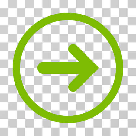 Arrow Right rounded icon. Vector illustration style is flat iconic symbol inside a circle, eco green color, transparent background. Designed for web and software interfaces.