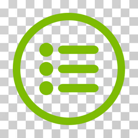 Items rounded icon. Vector illustration style is flat iconic symbol inside a circle, eco green color, transparent background. Designed for web and software interfaces. Illustration