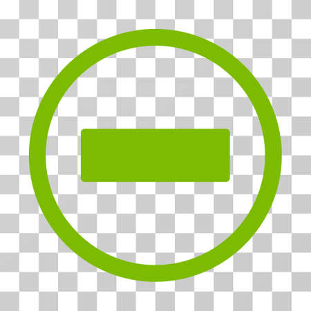 Minus rounded icon. Vector illustration style is flat iconic symbol inside a circle, eco green color, transparent background. Designed for web and software interfaces.