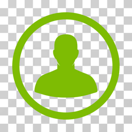 User rounded icon. Vector illustration style is flat iconic symbol inside a circle, eco green color, transparent background. Designed for web and software interfaces. Stock Photo