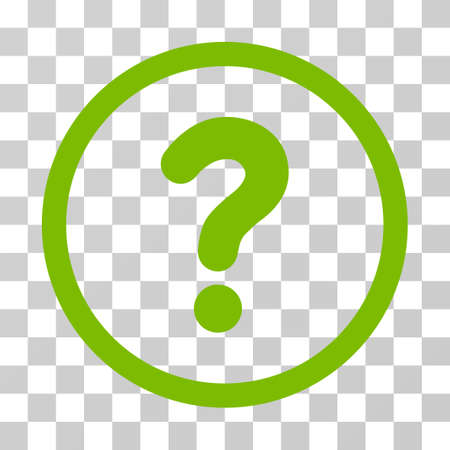 sql: Question rounded icon. Vector illustration style is flat iconic symbol inside a circle, eco green color, transparent background. Designed for web and software interfaces. Stock Photo