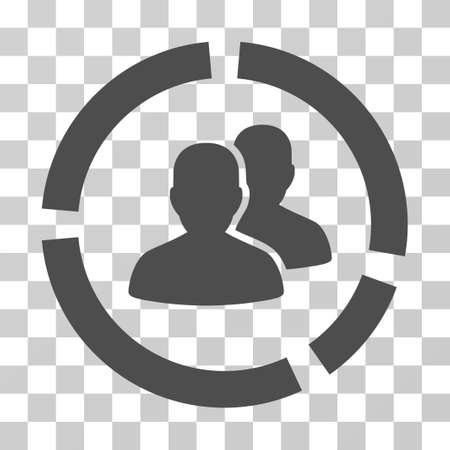 demografia: Demography Diagram icon. Vector illustration style is flat iconic symbol, gray color, transparent background. Designed for web and software interfaces. Vectores