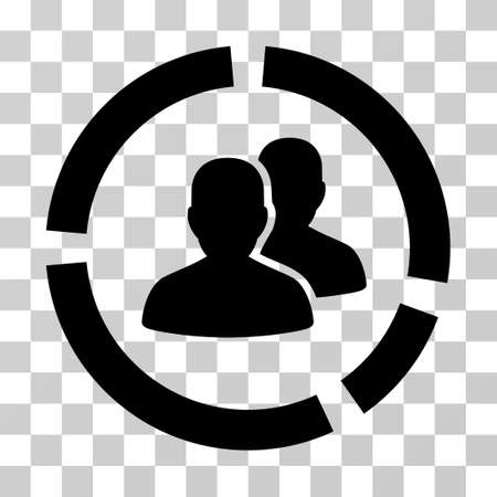 demografia: Demography Diagram icon. Vector illustration style is flat iconic symbol, black color, transparent background. Designed for web and software interfaces.