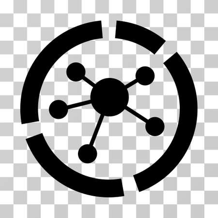 Connections Diagram icon. Vector illustration style is flat iconic symbol, black color, transparent background. Designed for web and software interfaces. Illustration