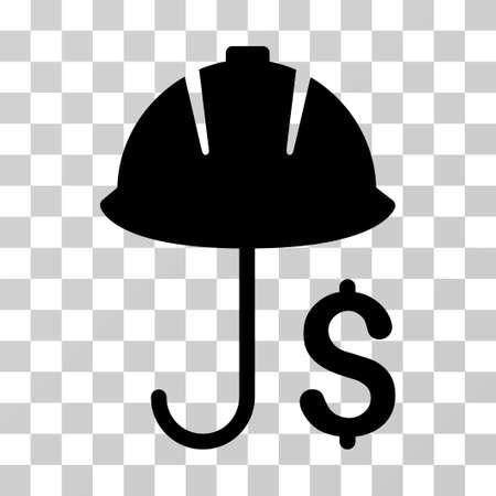 Symbol für die finanzielle Deckung der Entwicklung. Vektorillustrationsart ist flaches ikonenhaftes Symbol, schwarze Farbe, transparenter Hintergrund. Entwickelt für Web- und Software-Schnittstellen.