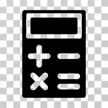 adder: Calculator icon. Vector illustration style is flat iconic symbol, black color, transparent background. Designed for web and software interfaces.