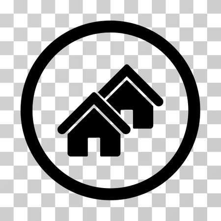domestic garage: Realty icon. Vector illustration style is flat iconic symbol, black color, transparent background. Designed for web and software interfaces. Illustration