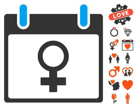 Venus Female Symbol Calendar Day Icon With Bonus Passion Images
