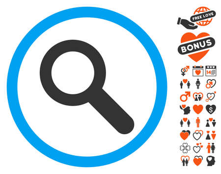 Search pictograph with bonus amour pictograph collection. Vector illustration style is flat iconic elements for web design, app user interfaces. Illustration
