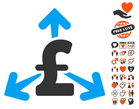 spend: Spend Pound Money icon with bonus amour symbols. Vector illustration style is flat iconic symbols for web design, app user interfaces.