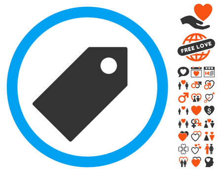 Tag icon with bonus passion design elements. Vector illustration style is flat iconic symbols for web design, app user interfaces. Illustration