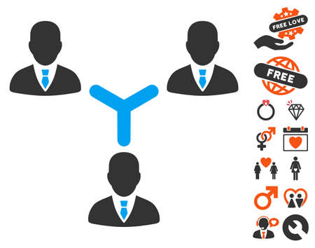 Teamwork pictograph with bonus dating images. Vector illustration style is flat iconic symbols for web design, app user interfaces. Illustration
