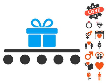 rulos: icono del transporte de equipaje con pictogramas bono pasión. estilo de ilustración vectorial elementos icónicos es plana para el diseño web, interfaces de usuario de aplicaciones.