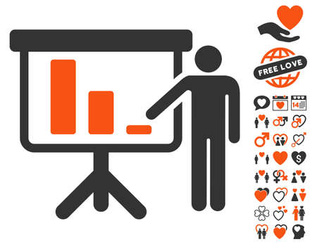 presentaion: Crisis Reporting Person icon with bonus amour images. Vector illustration style is flat iconic symbols for web design, app user interfaces.