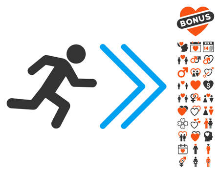 Exit Direction pictograph with bonus decoration images. Vector illustration style is flat iconic symbols for web design, app user interfaces.