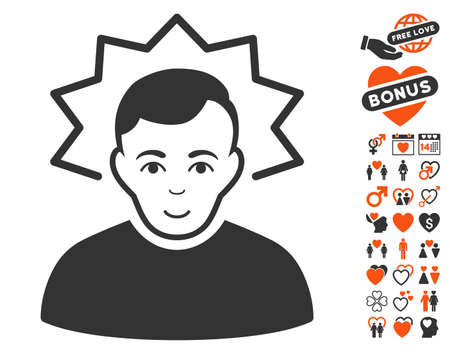 Inventor pictograph with bonus amour design elements. Vector illustration style is flat iconic symbols for web design, app user interfaces. Illustration