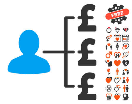 payer: Pound Payer Relations icon with bonus amour pictograph collection. Vector illustration style is flat iconic elements for web design, app user interfaces.