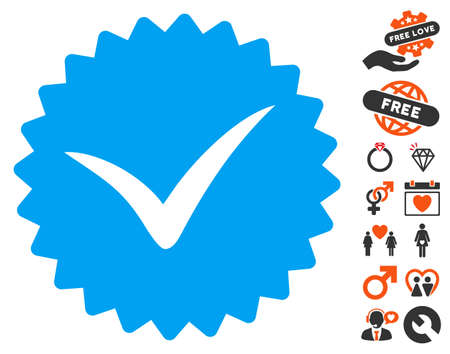 approval rate: Quality icon with bonus decorative clip art. Vector illustration style is flat iconic symbols for web design, app user interfaces.
