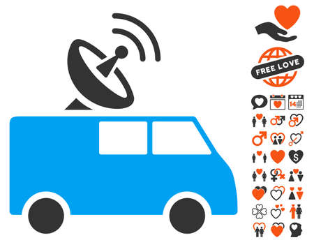 Radio Control Car pictograph with bonus amour pictograph collection. Vector illustration style is flat iconic elements for web design, app user interfaces.