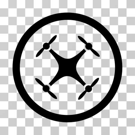 airflight: Airdrone vector icon. Illustration style is a flat iconic black symbol on a transparent background.