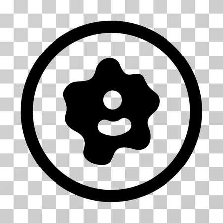 Pictograma de vector Ameba. El estilo de ilustración es un símbolo negro plano icónico sobre un fondo transparente. Ilustración de vector