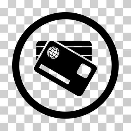 admit: Banking Cards vector pictograph. Illustration style is a flat iconic black symbol on a transparent background.