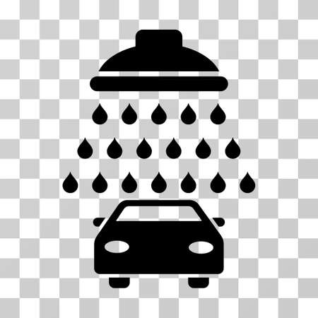 sterilize: Car Shower vector pictogram. Illustration style is a flat iconic black symbol on a transparent background. Illustration