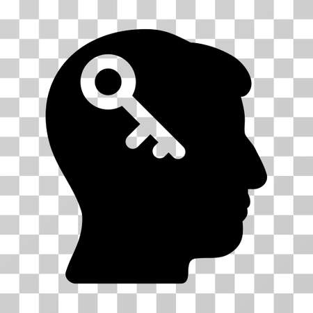 latchkey: Head Key vector pictograph. Illustration style is a flat iconic black symbol on a transparent background.