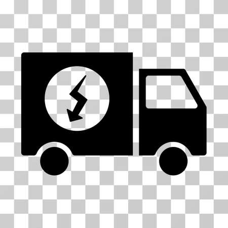 Electric Van Vehicle Vector Icon Royalty Free Cliparts, Vectors, And ...