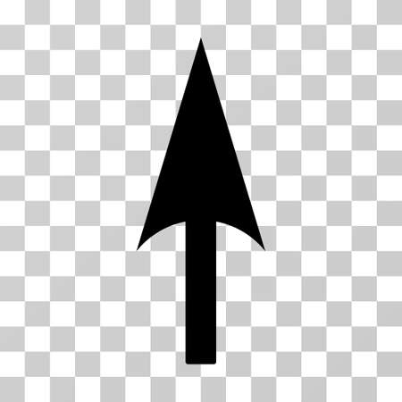 Arrow Axis Y vector pictogram. Illustration style is flat iconic black symbol on a transparent background. Illustration