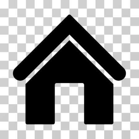 Pictogramme de vecteur d'accueil. Le style d'illustration est le symbole emblématique noir plat sur un fond transparent.