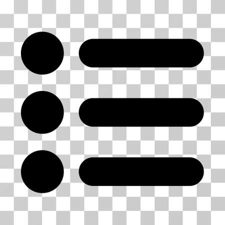 numerate: Items vector icon. Illustration style is flat iconic black symbol on a transparent background.