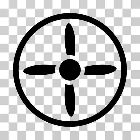 Drone Screw icon. Vector illustration style is flat iconic symbol, black color, transparent background. Designed for web and software interfaces.